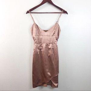 Meshki Pink Satin Mini Dress